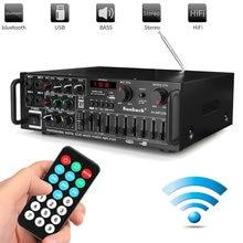 Amplificador de alta fidelidad para cine en casa, gran oferta, bluetooth 2,0, 2000 canales, 326BT, 12V/220V, AV Amp, altavoz con Control remoto para coche y hogar