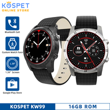 """KW99 3G Android Support Bluetooth Call Smartwatch Phone Heart Rate GPS Pedometer 1.39""""AMOLED WIFI Sport Smart Watch Phone Men"""