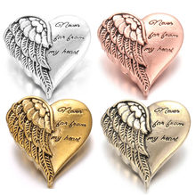 New Snap Button Jewelry Angel Wings Love Heart 18mm Metal Snap Buttons Fit Snap Bracelet Necklace Valentine's Day Gift(China)