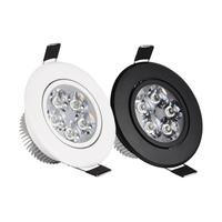 Luz descendente LED de 3x3W, 4x3W, 5x3W, regulable, cálido, Natural, puro, para empotrar blanco, punto de luz, AC85-265V (envío por defecto, cuerpo blanco)