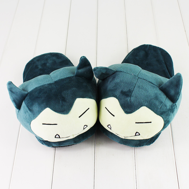 26cm Plush Snorlax Indoor Pikachu Plush Warm Winter Adult/Kids Stuffed Cartoon Shoes Birthday Present For Boy Christmas Present
