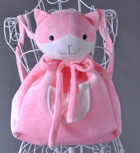 Anime Danganronpa Dangan-Rosa Gato Saco Ronpa Dangan Ronpa Nanami Chiaki Cosplay Plush Backpack Sacos de Ombro Bonito Bolsa Animal(China)