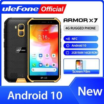 Ulefone Armor X7 5.0 pouces Android10 téléphone portable robuste étanche Smartphone 2GB 16GB ip68 Quad-core NFC 4G LTE téléphone portable 1