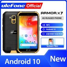 Ulefone درع X7 5.0 بوصة Android10 وعرة للماء هاتف خلوي هاتف ذكي 2GB 16GB ip68 رباعية النواة NFC 4G LTE الهاتف المحمول