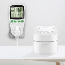 Ac soquete medidor de energia inteligente eletricidade kwh medidor de energia monitor de medição tomada analisador de energia