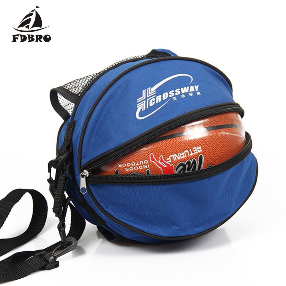 FDBRO Universal Sport Bag Adjustable Shoulder Strap Knapsacks Storage Basketball Ball Football Volleyball Backpack Handbag Round