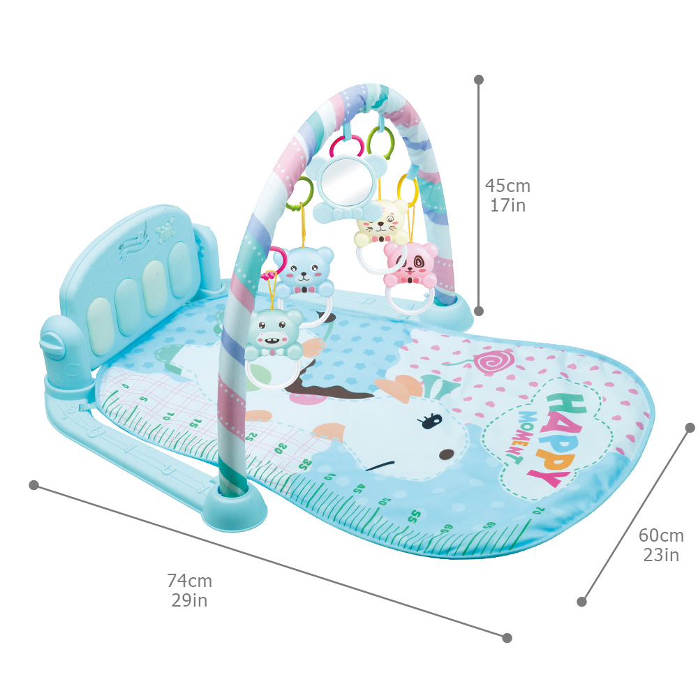 DSUE Baby Toys Baby Music Play Mat Kid's Puzzle Carpet with Piano Keyboard Infant Fitness Crawling Mat Early Education Gym Toy | Happy Baby Mama