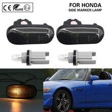 Indicador lateral de luz ámbar para coche, señal de giro para Honda S2000 Accord Civic Prelude CRX Fit, 1 par