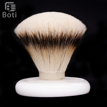Boti Brush-SHD Leader Slivertip Badger Hair Knot Shaving Brush Knots Gel Tip Fan Type Men's Beard Shaping Tool Round Chassis