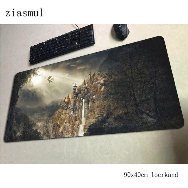 Skyrim tapis de souris haute qualité ordinateur gamer tapis de souris 900x400x3mm padmouse HD impression tapis de souris gadget ergonomique bureau tapis de bureau