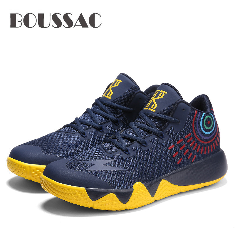 BOUSSAC Men Basketball Shoes Outdoor Air Mesh Sneakers Ankle Boots Basket Homme Athletic Shoes Sports Men's Jordan Shoes|Basketball Shoes| |  - title=