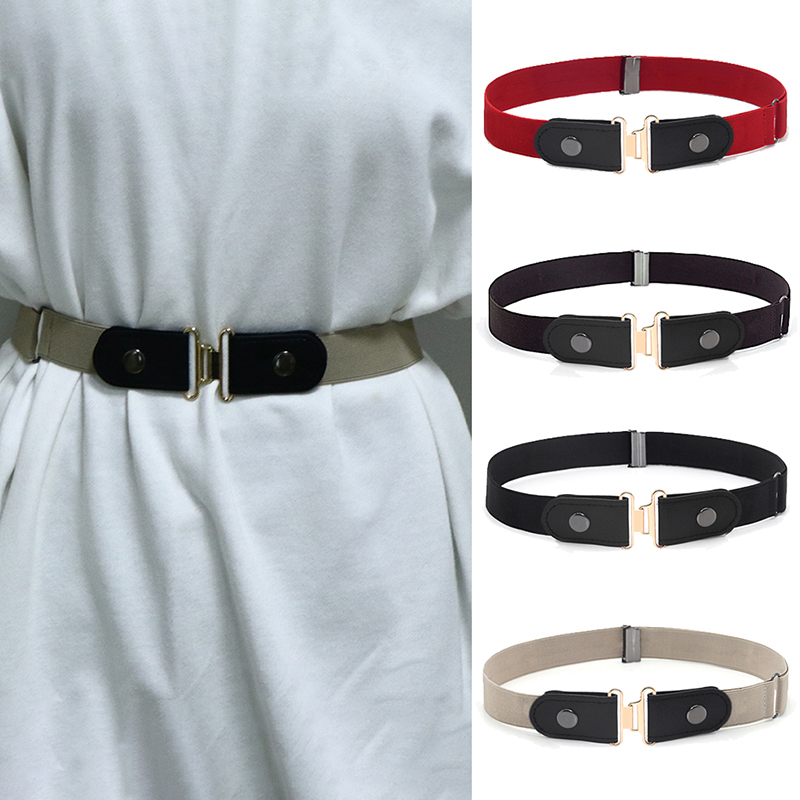 Women Buckle Stretch Belt Belt Invisible Elastic Waist Belt Unisex For Jeans Pants Invisible Belt DropShipping