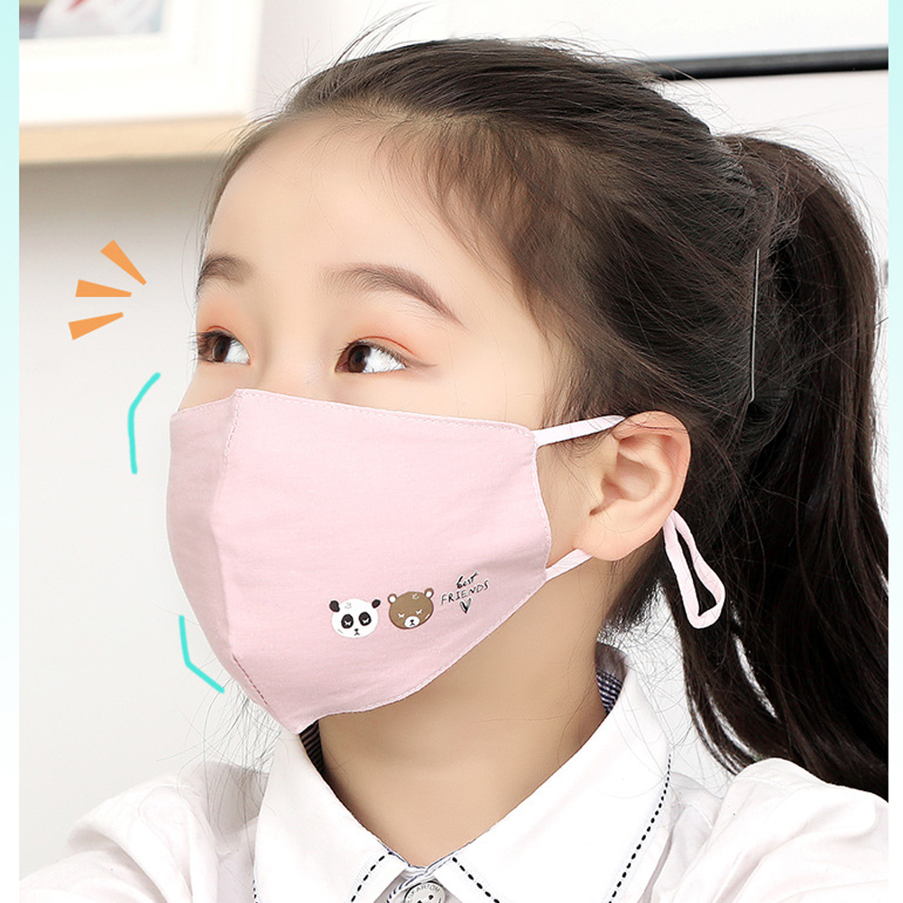 Pink Anti Dust Face Mouth Mask Reusable Breathable Cotton Protective Children Kid Cartoon Cute PM2.5 Anti-Dust Mouth Face Mask