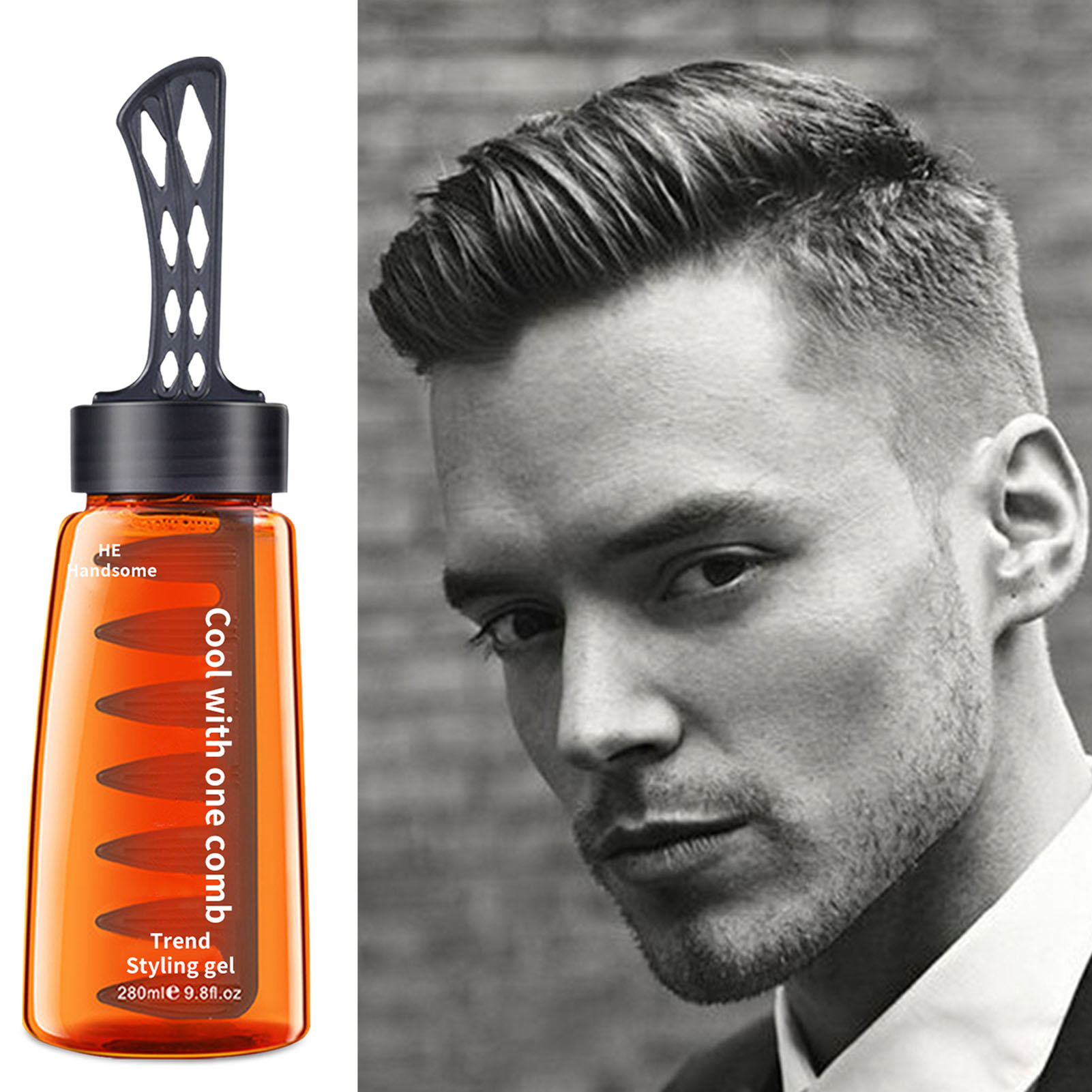 Men Hair Styling Gel With Comb