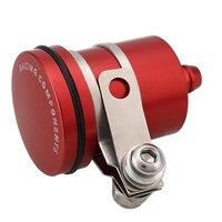 Copo de óleo do freio da motocicleta modificado bomba de freio cnc tridimensional pote de óleo vermelho|Peças e cilindros de roda|Automóveis e motos -