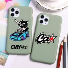 Ciay KOT-tienda funda para teléfono para iphone 12 11 Pro Max Mini XS 8 7 6 6S Plus X SE 2020 XR caramelo verde cubierta de silicona