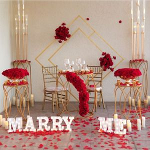 Image 5 - 5 PCSงานแต่งงานProps Party Dim Sumเค้กอะคริลิคเหล็กทรงกระบอกโต๊ะPre ฟังก์ชั่นพื้นที่Decorงานแต่งงานกรอบชั้น
