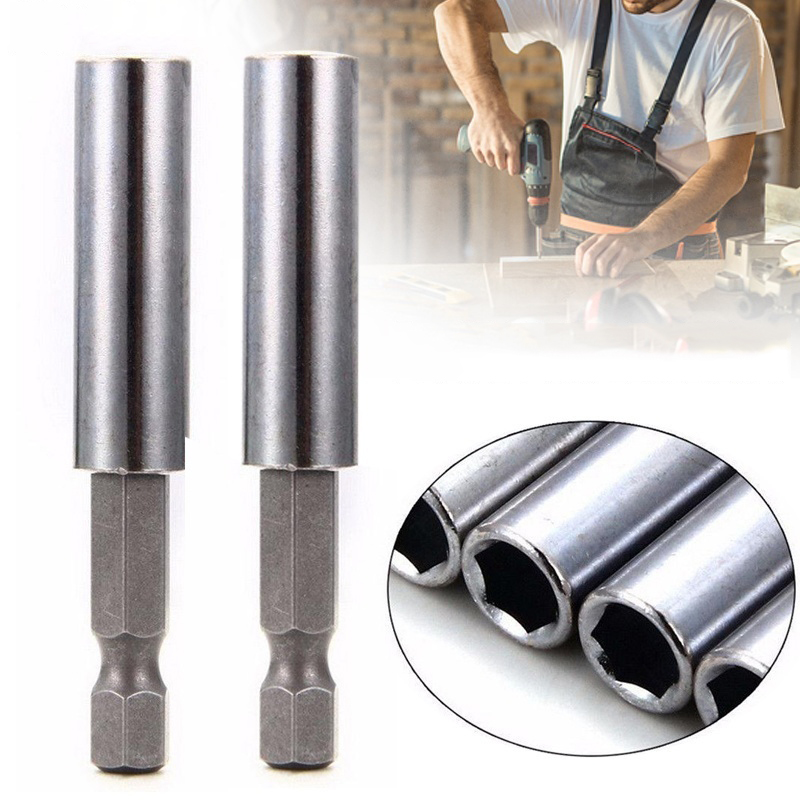 2PCS Magnetic Extension Extend Socket Drill Bit Holder 1/4