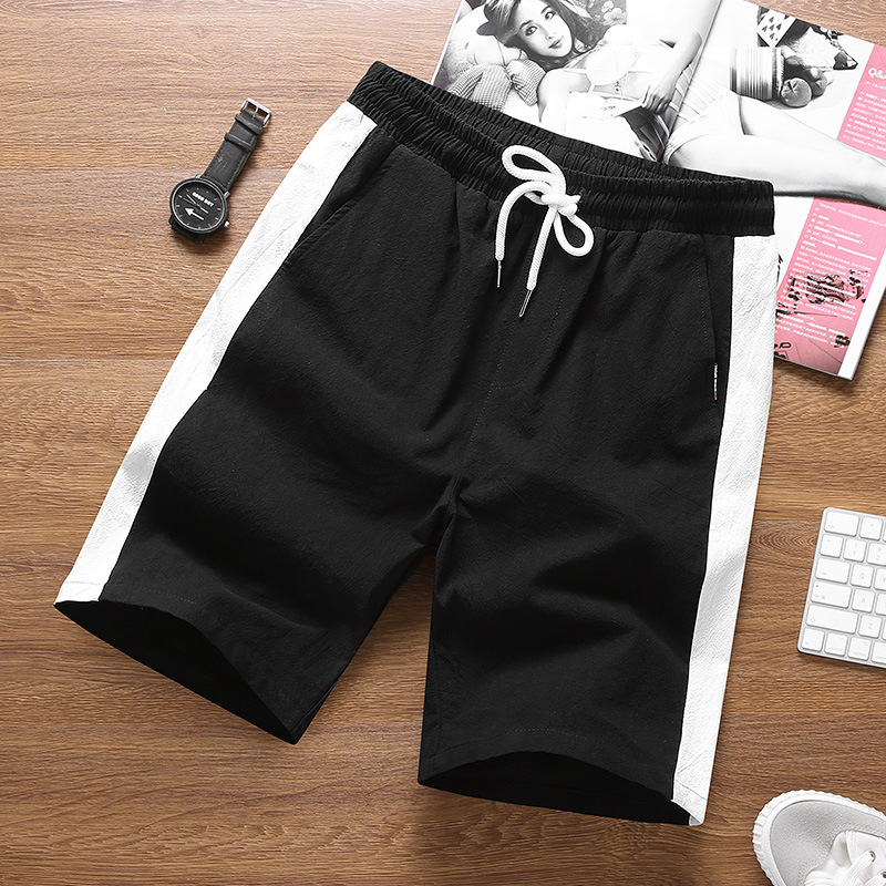 Summer 5 Pants Men's Pure Cotton 4XL Shorts Men Thin Loose And Plus-sized Athletic Pants Fashion Large Trunks Shorts Breeches