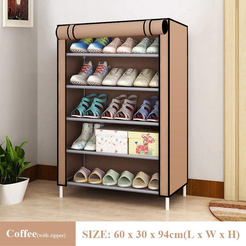Hot Simple Shoe Rack Non-Woven Dustproof Storage Shoe Cabinet Shoemaker Storage Bag Space Saving Shoe Storage 4