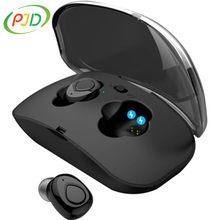 PJD TWS słuchawki bezprzewodowe HD 3D Stereo Sport prawdziwe słuchawki z redukcją szumów słuchawki dla graczy z etui z funkcją ładowania słuchawki Bluetooth