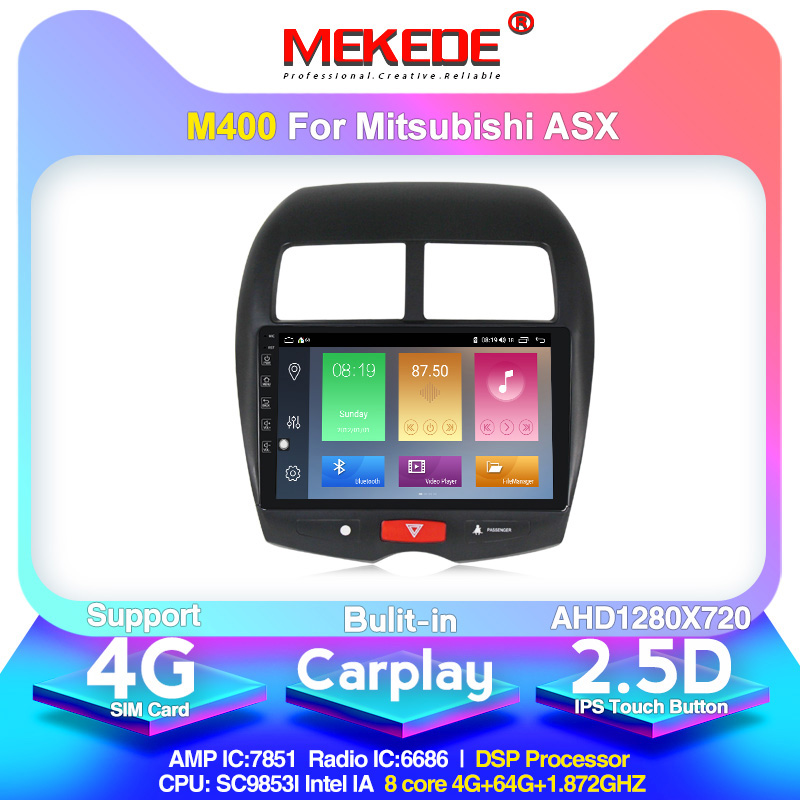 MEKEDE Android 10 GPS Car Multimedia Video Player For Mitsubishi ASX 2010-2017 2.5D Screen IPS DSP Built-in Carplay  Head Unit