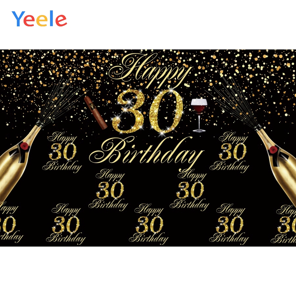 30th <font><b>40th</b></font> 50th 60th 70th 80th Party <font><b>Birthday</b></font> Decor Poster Photo <font><b>Backdrops</b></font> Customized Photographic Backgrounds For Photo Studio image