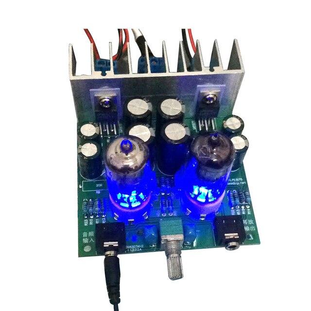 AIYIMA 6J1 safra tampon tüp preamplifikatör ses kartı LM1875T güç amplifikatörü kurulu 30W Preamp kulaklık amplifikatörü AMP DIY kitleri