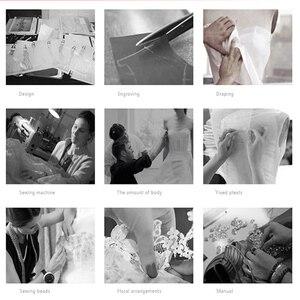 Image 4 - כתום שיפון ערב שמלות 2020 הגעה חדשה כתף אחת סימטרי סקסי גבוהה סדק חרוזים Duba נשים פורמליות ערב שמלות