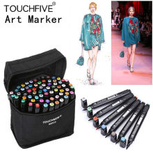 Caneta de marcador touchcinco 168 cores, arte única, canetas de esboço, à base de álcool, cabeça dupla, canetas de desenho, material de arte