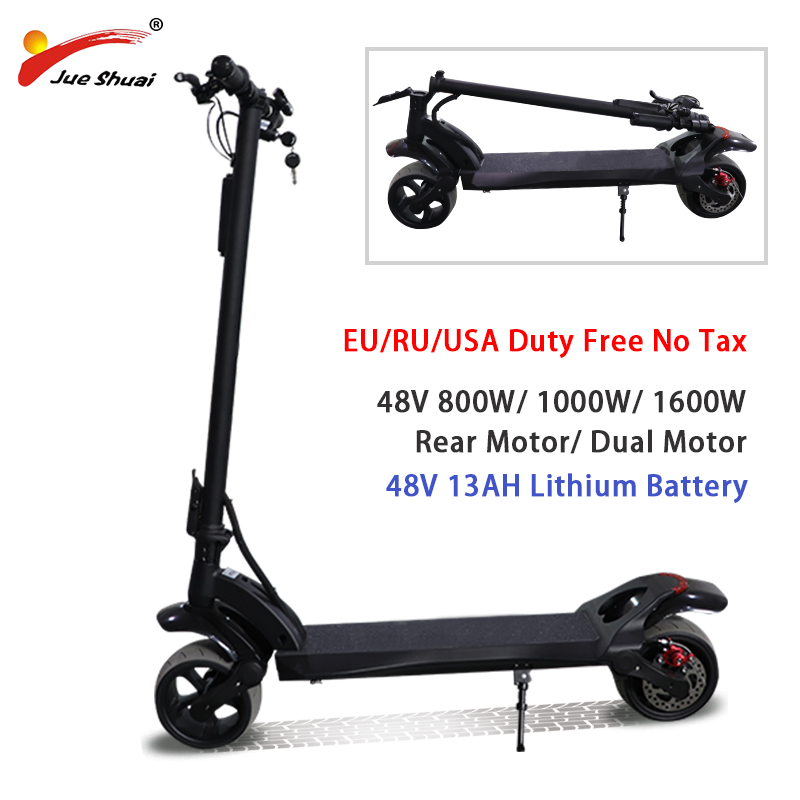 48V 800W 1000W 1600W doble Motor Scooter eléctrico sin asiento plegable hoverboard Battery48V13AH patinete eléctrico flexible