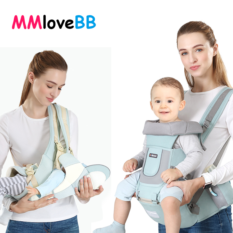 0 48M Ergonomic Baby Carrier Kangaroo Baby Sling For Newborns Baby Hipseat Carrier Front Facing Baby Wrap Travel Baby Holder|Backpacks & Carriers|   - AliExpress