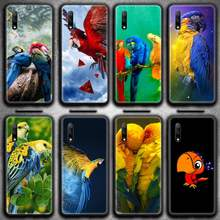 Funny Parrot birds Phone Case for Huawei Honor 30 20 10 9 8 8x 8c v30 Lite view 7A pro(China)