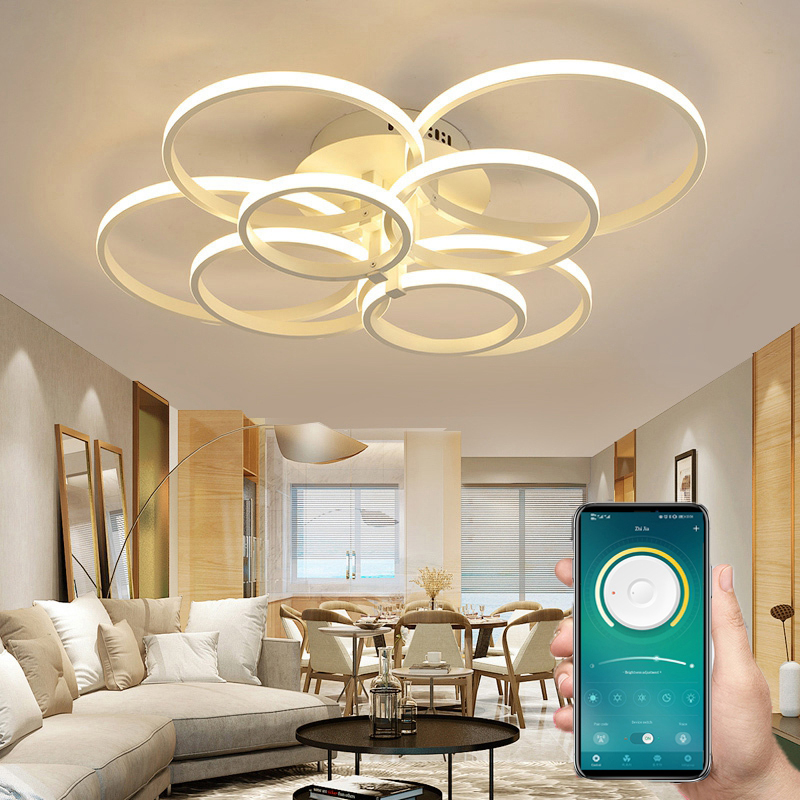 Innen Beleuchtung Moderne Led-deckenleuchte Lightting für Wohnzimmer Decke Licht Gesteuert Durch Telefon und Fernbedienung