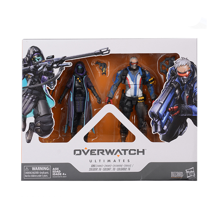Hasbro Overwatch Ultimates Mercy and Pharah Shrike Ana and Soldier:76  Action Figures Suit Model Toys 6'' 5