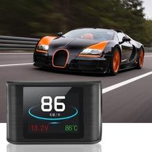 LEEPEE çok fonksiyonlu OBD akıllı dijital metre HUD P10 Head Up ekran araba hız göstergesi sıcaklık RPM kilometre ölçer