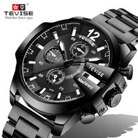 Automatic Mechanical Top Brand TEVISE Watch Men's Luxury Sport Military Stainless Steel Strap Wrist Watches For Business