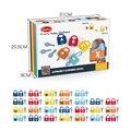 Игрушка Монтессори, детский центр раннего образования, обучающие средства, буквенно-цифровые разблокированные игрушки для детей 3-6 лет, раз...