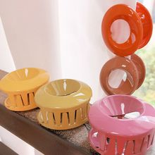 Morandi Acrylic Simple Openwork Catch Clip Candy Color Hair Tail Claw Clips for Women Girls Gifts