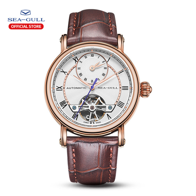 Martı erkek saati çift zaman dilimi kemer su geçirmez otomatik mekanik saat Master serisi 519.11.6041
