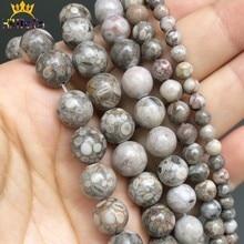 Jaspers Maifan en pierre naturelle lisse, perles rondes amples pour la fabrication de bijoux, Bracelet 15 ''6 8 10 12 mm