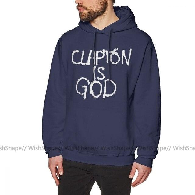 Eric Clapton Hoodie Clapton Is God White On Black Hoodies Streetwear Nice Pullover Hoodie Cotton Men Big Long Sleeve Hoodies Hoodies Sweatshirts Aliexpress