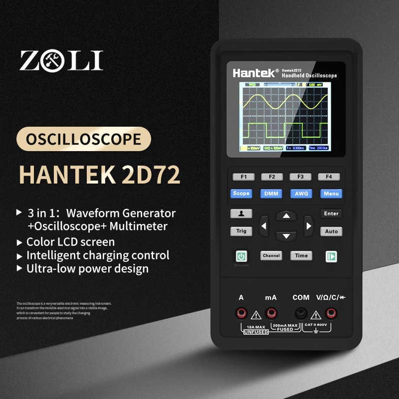 Hantek 2-in-1 oszilloskop Wellenformgenerator Multimeter 2-Kanal 250MSa //s 70Mhz