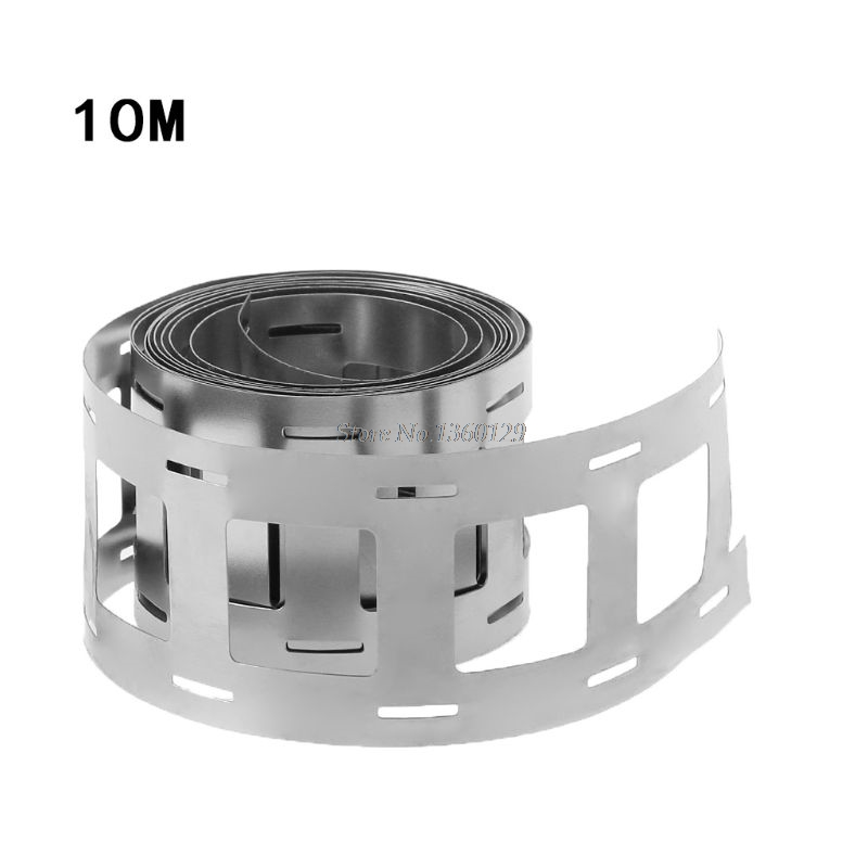 10 Meter Pure Nickel Strip For Li 18650 Battery Spot Welding Machine Welder Equipment Nickel Belt Tape For Battery Packs Whosale