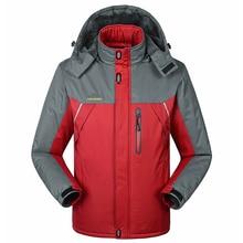 -30 C  Thick Velvet Down & Parka Coat  2019 Warm Winter Jacket Waterproof Windproof Men's Windbreake