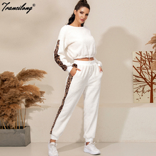 Femme Velvet Tracksuit Women White Winter Fall 2 Piece Set Ropa Deportiva Mujer Sweatpants Joggers Suit 2pcs Tops+pants Outfits
