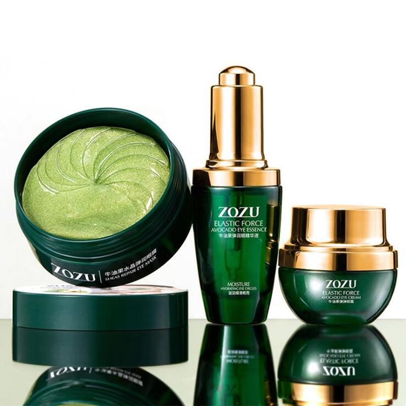 nova marca de maquiagem de abacate eye care kit 3 pcs set cosmeticos set creme hidratante