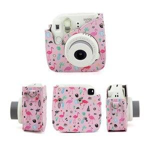 Image 5 - Mini aparat fotograficzny skórzany do fujifilm instax mini 9 torba na aparat PU do Instax Mini 8 torba film natychmiastowy aparat fotograficzny case Mini 8 + aparaty fotograficzne