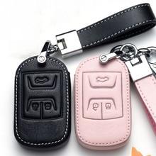 Custodia protettiva in pelle per chiave auto per Chery Tiggo 8 7 5X 2019 2020 luminoso 3 pulsanti Smart Keyless Remote Fob Protect Ring