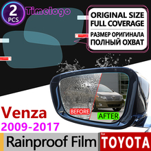 For Toyota Venza 2009 - 2017 Full Cover Anti Fog Film Rearview Mirror Rainproof Anti-Fog Films Accessories 2011 2012 2014 2015 car driving front fog light for 2007 2014 toyota camry 2009 2016 venza 2009 2014 matrix